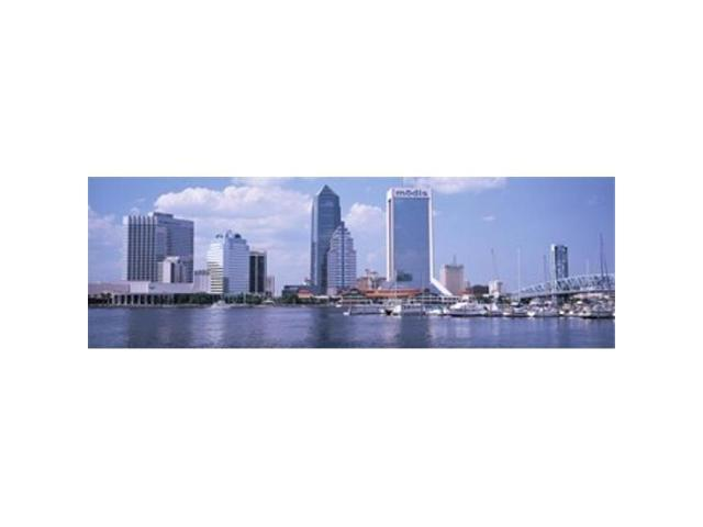 Panoramic Images PPI72763L Skyscrapers at the waterfront Main Street Bridge St. Johns River Jacksonville Florida USA Poster Print by Panoramic. (Arts & Entertainment Artwork) photo