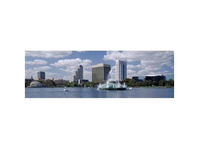 Panoramic Images PPI73028L Buildings at the waterfront Lake Eola Orlando Florida USA Poster Print by Panoramic Images - 36 x 12 (Arts & Entertainment Artwork) photo