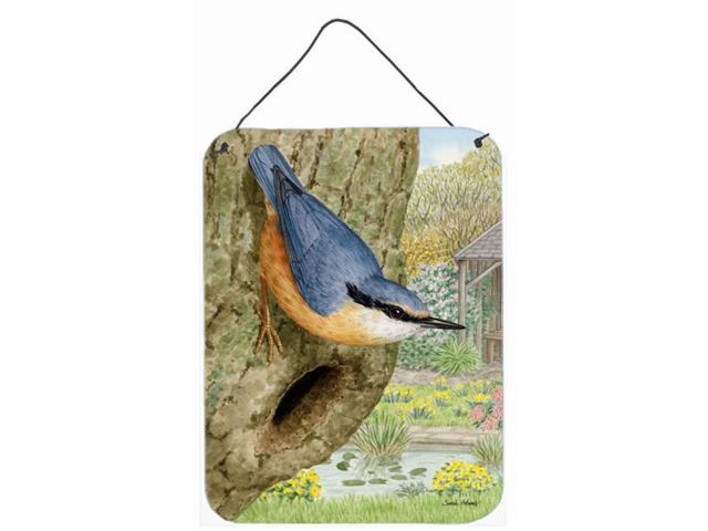 Carolines Treasures ASA2108DS1216 Red-Breasted Nuthatch Wall and Door Hanging Prints (Arts & Entertainment Artwork) photo