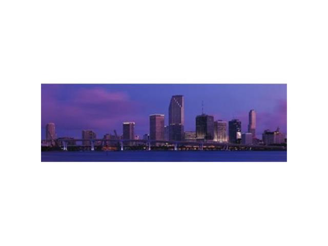 Panoramic Images PPI77693L Buildings At The Waterfront Miami Florida USA Poster Print by Panoramic Images - 36 x 12 (Arts & Entertainment Artwork) photo