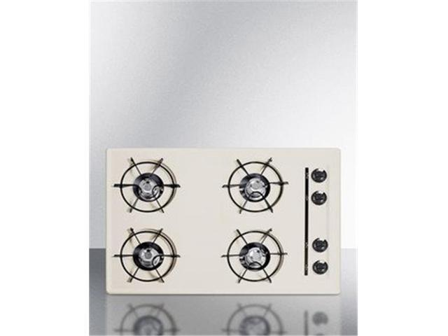 Summit Appliance SNL05P 30 in. Electric Open Burner Cooktop, Bisque photo