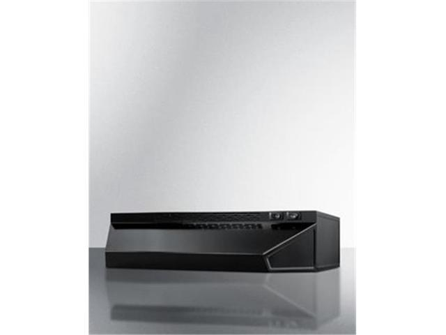 Summit Appliance H1620B 20 in. Convertible Range Hood for Ducted or Ductless - Black photo