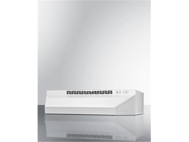 Summit Appliance H1624W 24 in. Convertible Range Hood for Ducted or Ductless - White photo