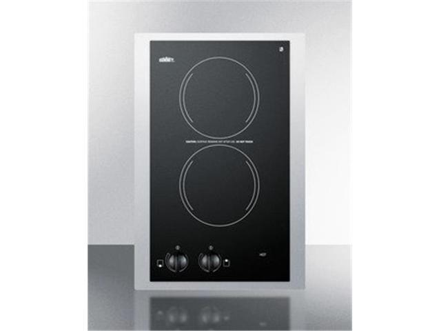 Summit Appliance CR2110TK15 15 in. 115V Electric Smoothtop Cooktop, Black photo