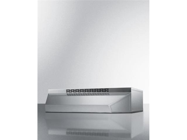 Summit Appliance ADAH1624SS 24 in. Wide ADA Compliant Convertible Range Hood for Ducted or Ductless use in Stainless Steel with Remote Wall Switch photo