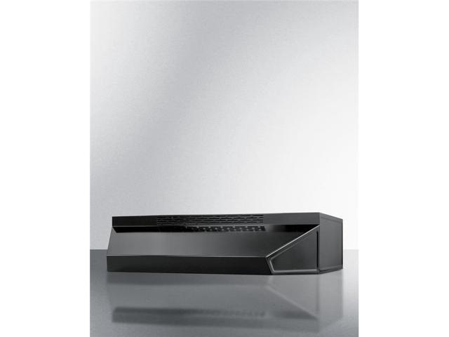 Summit Appliance ADAH1724B 24 in. Wide ADA Compliant Ductless Range Hood in Black Finish with Remote Wall Switch photo
