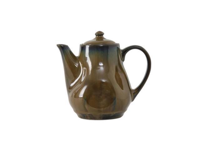 Tuxton GAA-101 Vitrified China Coffee & Tea Pot with Lid, Agave - 17 oz photo
