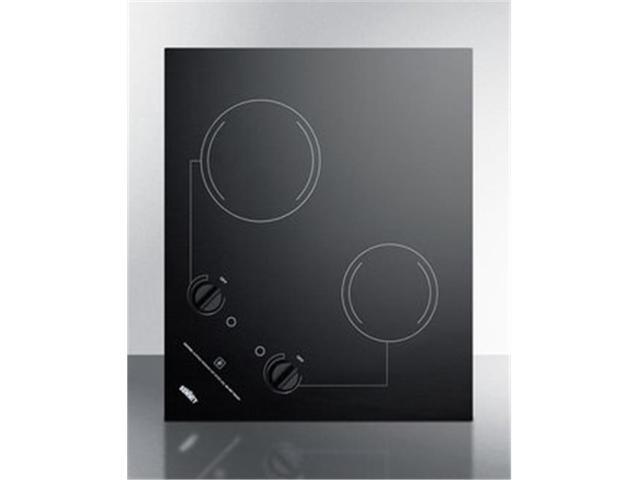 Summit CR2B121 115V 2 Burner Smooth Top Cooktop with Dual Mount Option photo