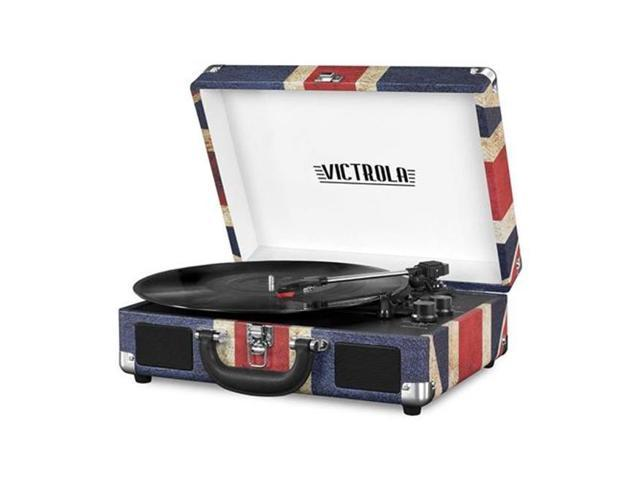 Innovative Technology INN-VSC-550BT-UK Victrola Vintage 3-Speed Bluetooth Suitcase Turntable with Speakers & UK Flag (Electronics Audio Audio Components) photo