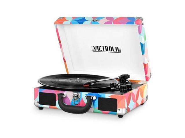 Innovative Technology INN-VSC-550BT-P3 Victrola Vintage 3-Speed Bluetooth Suitcase Turntable with Speakers & Geo Print (Electronics Audio Audio Components) photo