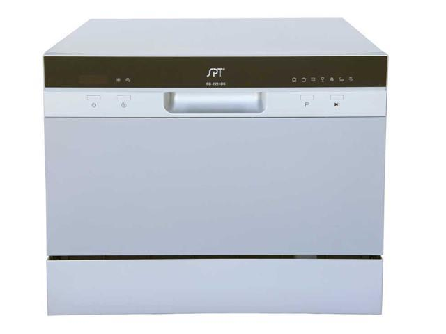 Kitchen Appliance Countertop Dishwasher with Delay Start in Silver photo