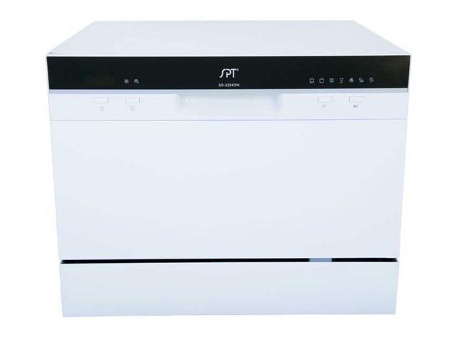 Kitchen Appliance Countertop Dishwasher with Delay Start in White photo