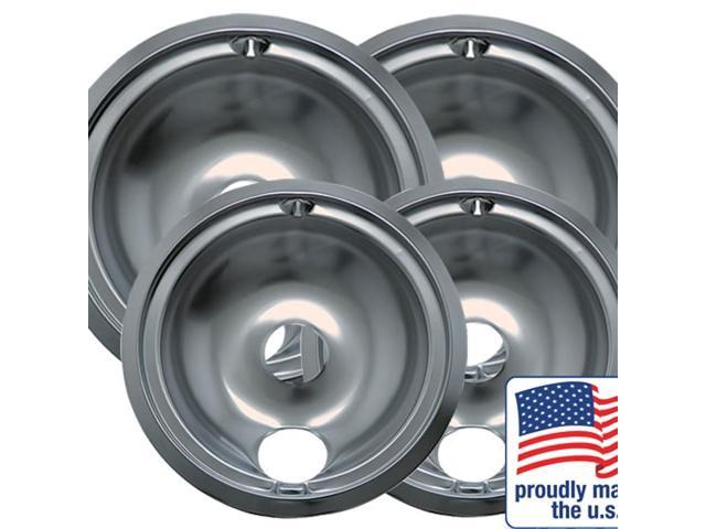 Range Kleen 119204XN GE And Hotpoint Chrome Drip Pan - Four Pack photo