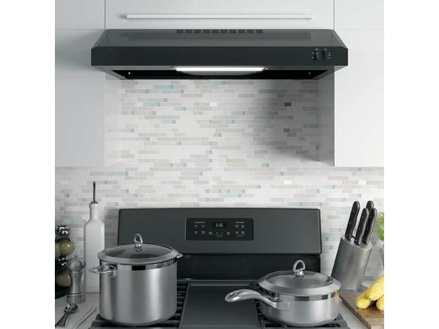 GE 30' Under Cabinet Convertible Hood Stove Top Venting System, Black photo