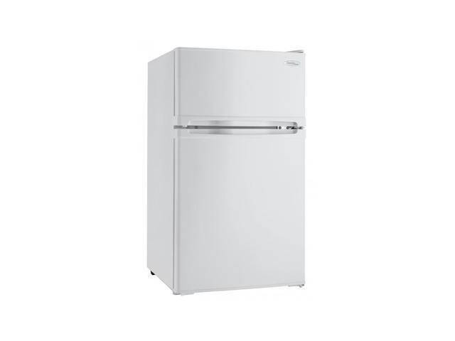 Danby DCR031B1WDD 3.1 Cubic Feet 2 Door Glass Shelf Compact Refrigerator, White photo