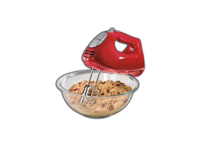 Hamilton Beach Ensemble Hand Mixer with Snap On Case, Beaters, and Dough Hook photo