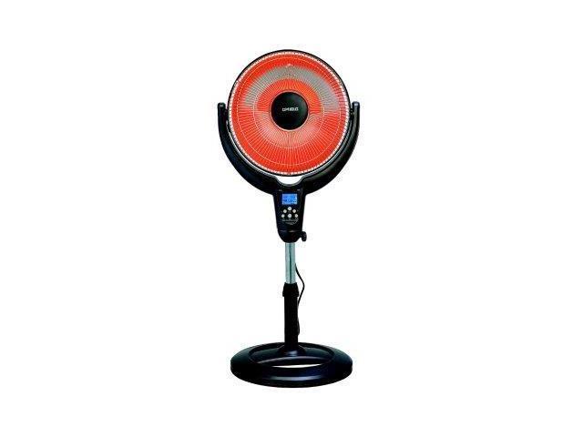 Optimus H-4501 14' Oscillating Pedestal Digital Dish Heater, with Remote photo