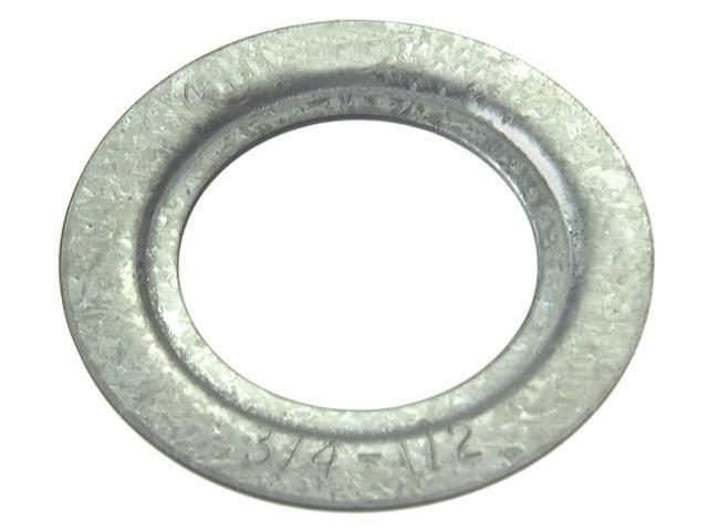 Halex 3/4 In. to 1/2 In. Plated Steel Rigid Reducing Washer (2-Pack) 96821 photo