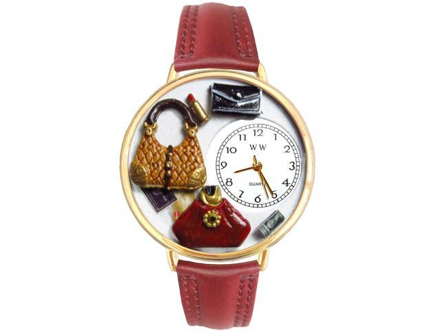 Whimsical Watches G-1010021 Whimsical Unisex Purse Lover Burgundy Leather Watch (813759017744 Jewelry) photo
