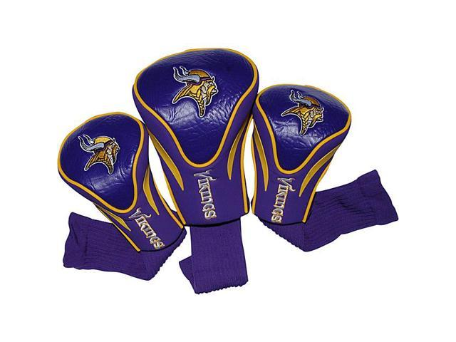 Team Golf 31694 Minnesota Vikings 3 Pack Contour Fit Headcover photo