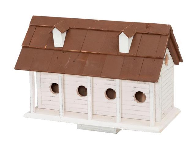 24' White and Brown Bird-In Hand Martinsburg Manor Outdoor Garden Bird House (715833543371 Home & Garden Lawn & Garden Outdoor Living) photo
