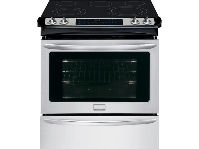 Frigidaire Gallery FGES3065PF 30' Slide-In Electric Range, True Convection, Quick Clean, One-Touch Options, Smudge-Proof in Stainless Steel photo