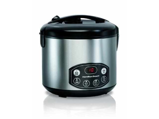 Hamilton Beach 37536 Black/Stainless Steel Digital Simplicity Deluxe Rice Cooker/Steamer photo
