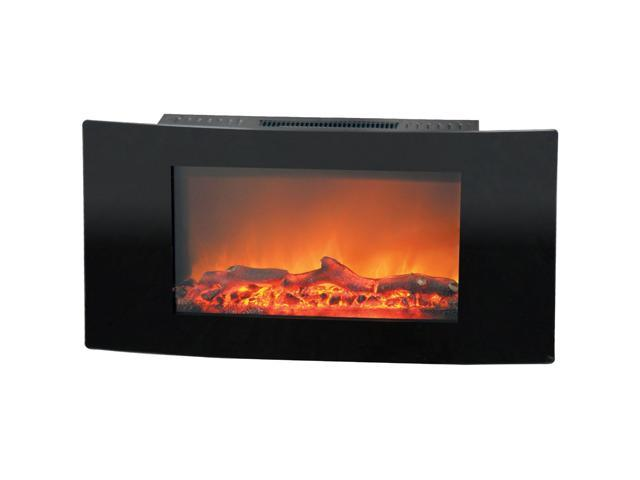 Cambridge Callisto CAM35WMEF-2BLK 35 In. Wall-Mount Electronic Fireplace with Curved Panel and Reali photo