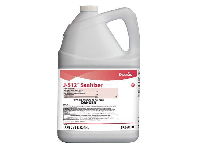 DIVERSEY 5756018 Sanitizer, Size 1 gal, Net Weight 33oz, PK4