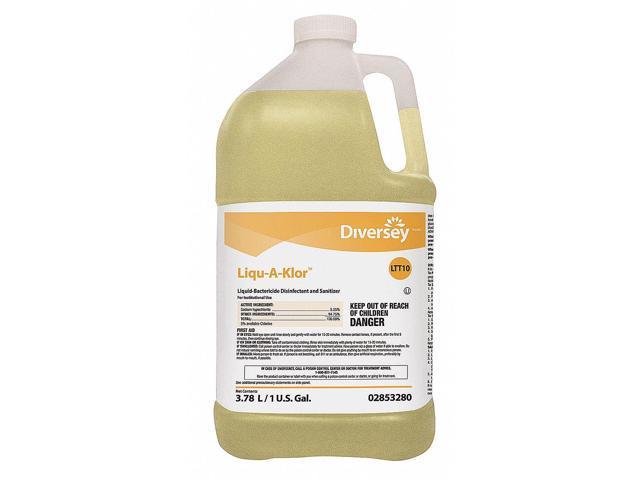 Diversey Food Grade Sanitizer, 1 gal. Jug, Unscented Liquid, Concentrated, 4 PK