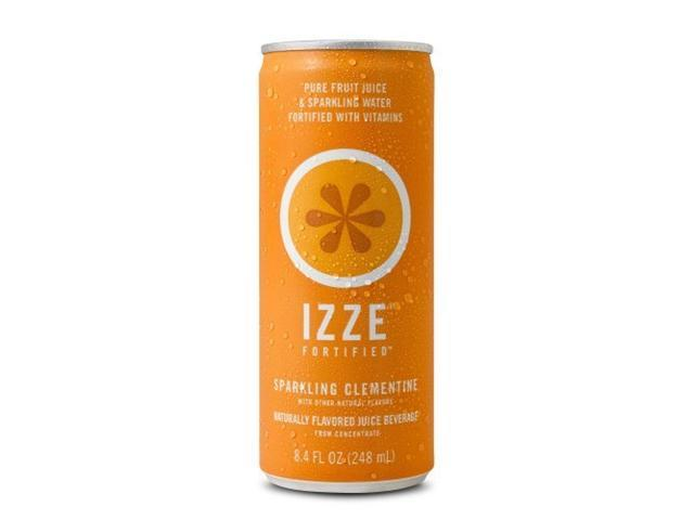 IZZE Fortified Sparkling Juice Clementine 8.4 oz Can 24/Carton 15054