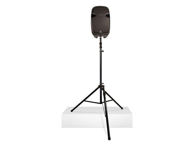 ultimate ts110bl hydraulic speaker stand w level speaker stand. Black Bedroom Furniture Sets. Home Design Ideas