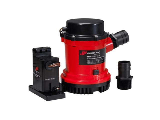 Johnson Pumps 01674-002 1600 Gph Heavy Duty Automatic Bilge Pump With Ultima Switch, 24V photo