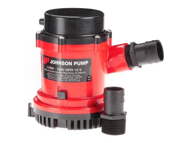 Johnson Pump 1600 GPH Bilge Pump 1-1/8' Hose 12V - 16004-00 photo