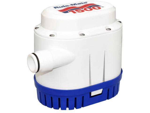 "Boat Marine 2000 GPH Bilge Pump 12V 1-1//8/"" Ports Rugged White ABS Plastic"