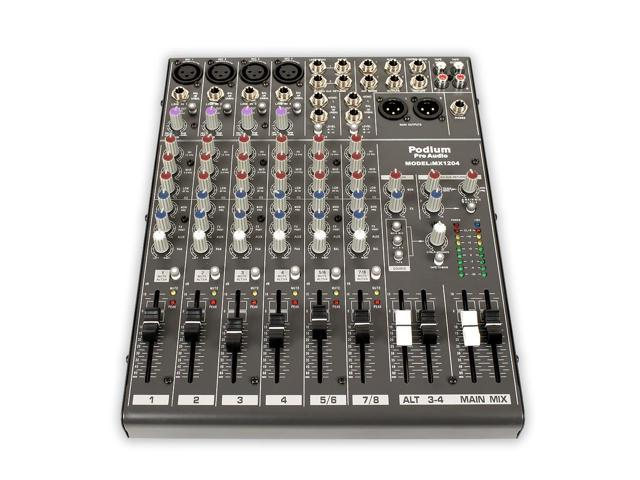 Podium by Goldwood MX1204 Mixer 12 Channel Pro Mic / Line Stereo Console photo