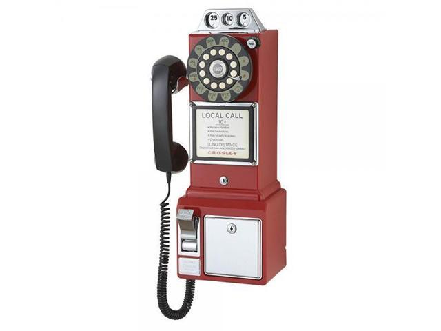 Crosley CR56-RE 1950's Payphone with Push Button Technology, Red (999994520055 Electronics) photo