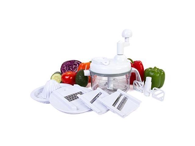 Ultra Chef Express Food Chopper - 7 in 1 Manual Food Processor, Mixer, Blender, Whipper, Slicer, Shredder and Juicer photo
