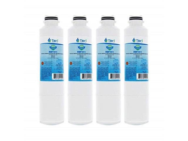 tier1 replacement for samsung da2900020b, da2900020a, hafcin/exp, hafcin, 469101, da9708006ab refrigerator water filter 4 pack photo