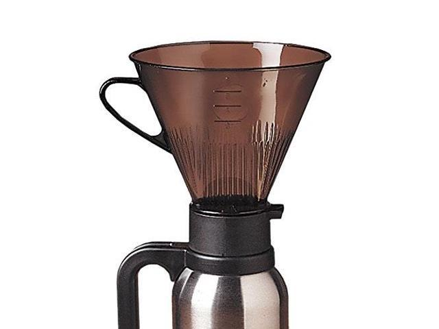 rsvp manual drip coffee filter cone for carafes or thermos photo