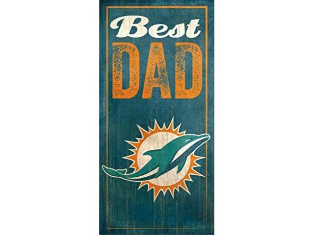 fan creations miami dolphins best dad sign, multicolored photo