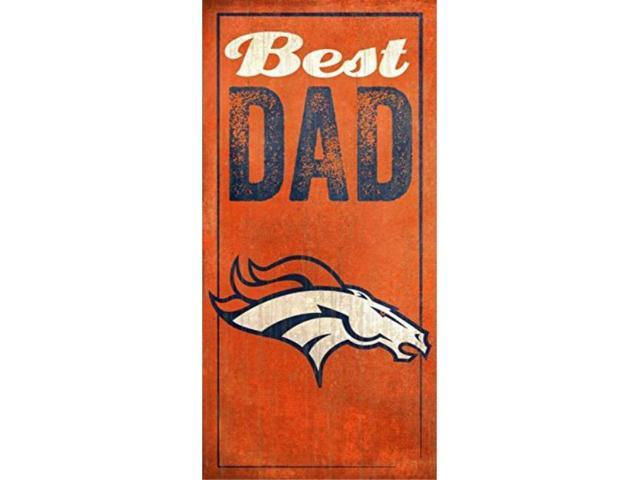 fan creations denver broncos best dad sign, multicolored photo