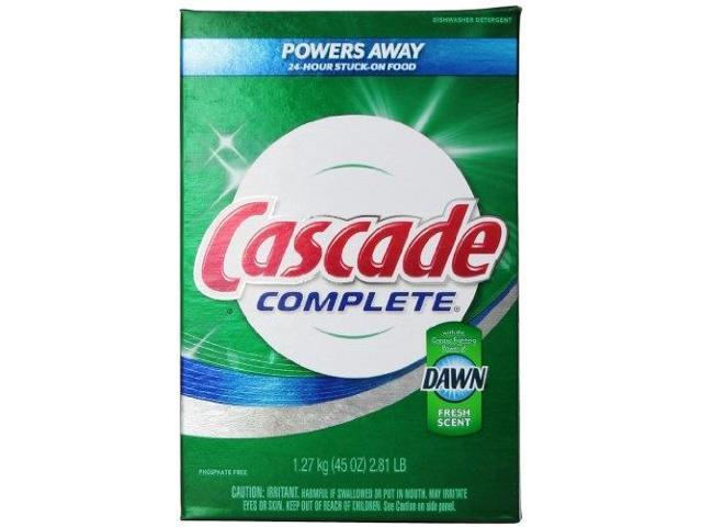 cascade complete, powder dishwasher detergent, fresh scent 45 oz pack of 2 photo