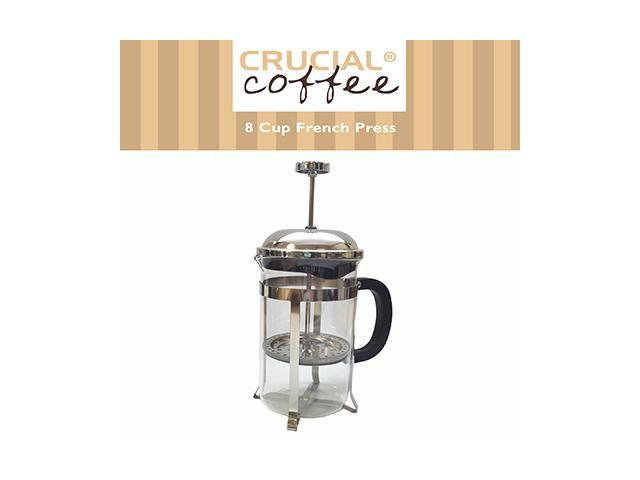 8 Cup French Press Coffee & Espresso Maker Brews 1L / 34OZ (8 coffee cups or about 4 coffee mugs), Designed & Engineered by Crucial Coffee photo