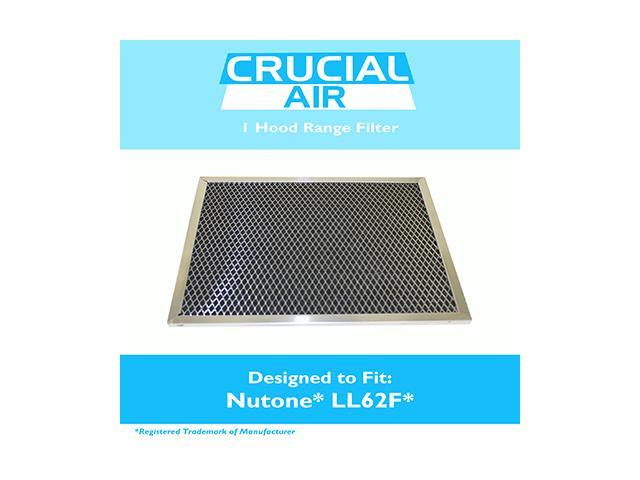 Washable Nutone Broan Microwave Aluminum Vent Hood Filter, 11-1/4' x 8-1/2' x 3/8', Compatible with Part # LL62F, Whirlpool 830731, AMFCO RHF0807. photo