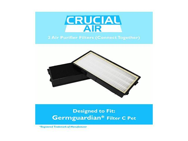 GermGuardian Filter C Pet Fits 3-in-1 Air Cleaning Systems - 5000 Model Series, Compare to Part # FLT5250PT, Includes 2 Filters That Fit Together. photo