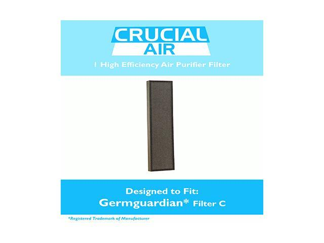 GermGuardian Air Purifier HEPA Filter C Fits AC5000 Series, Compare to Part # FLT5000 & FLT5111, Designed & Engineered by Crucial Air photo