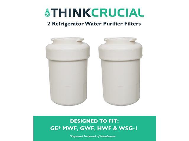 2 GE Refrigerator Water Purifier Filters Fit GE MWF GWF HWF 46-9991 WSG-1 WF287 & EFF-6013A photo
