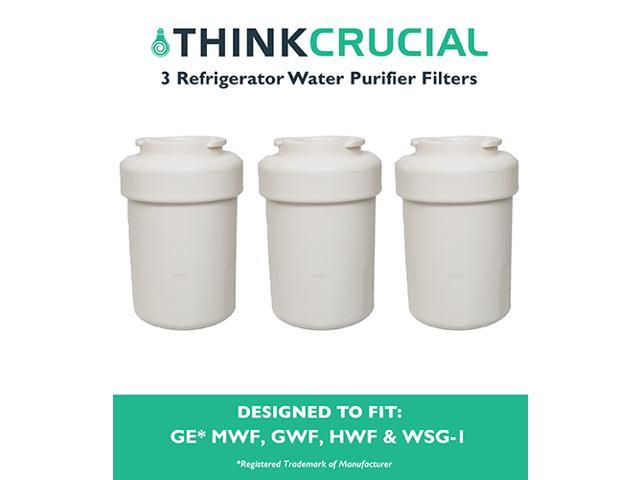 3 GE Refrigerator Water Purifier Filters Fit GE MWF GWF HWF 46-9991 WSG-1 WF287 & EFF-6013A photo