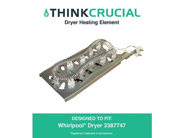 Dryer Heating Element fits Whirlpool & Kenmore 3387747, 8527865, AP2947033 & PS344597, Designed & Engineered by Think Crucial photo